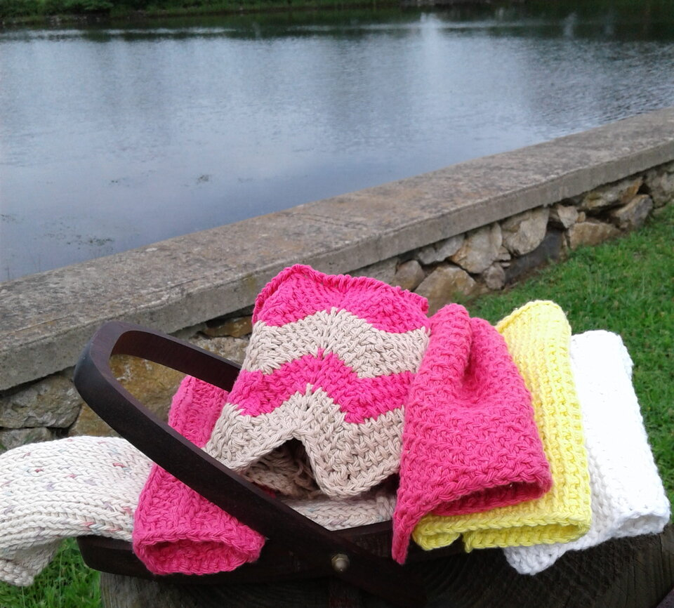 crochet by the lake